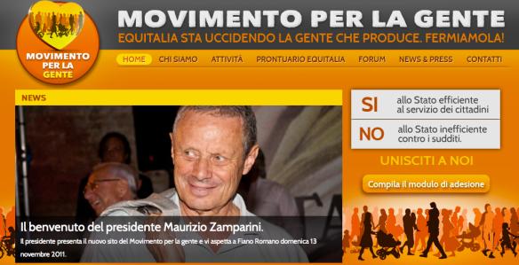 Home page di «Movimento per la gente»