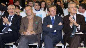 Casini, Tosi, Fini e Rutelli insieme in prima fila.