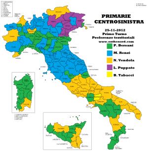 Preferenze Territoriali per Provincia