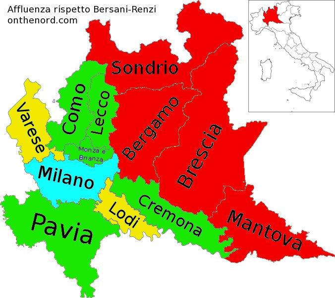 Province Lombardia Cartina.Cosa Ci Dicono Le Primarie In Lombardia Cronache Dal Nord Italia