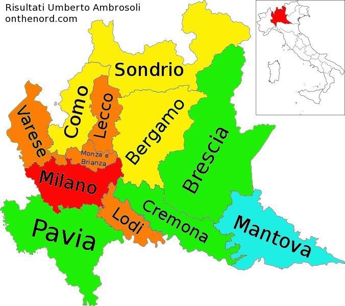 Lombardia Cartina Province.Cosa Ci Dicono Le Primarie In Lombardia Cronache Dal Nord Italia