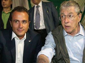 Marco Reguzzoni e Umberto Bossi.